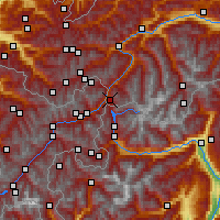 Nearby Forecast Locations - Nauders - Map