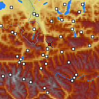 Nearby Forecast Locations - Werfenweng - Map