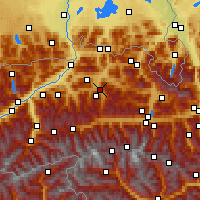 Nearby Forecast Locations - Kitzbühel - Map
