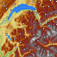 Nearby Forecast Locations - Le Grand Massif - Map