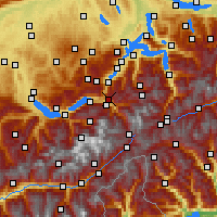 Nearby Forecast Locations - Hasliberg - Map