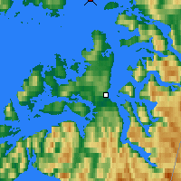 Nearby Forecast Locations - Skomvaer Fyr - Map