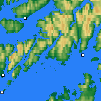 Nearby Forecast Locations - Sortland - Map