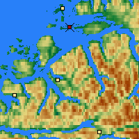 Nearby Forecast Locations - Skalmen Lighthouse - Map