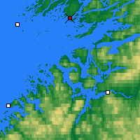 Nearby Forecast Locations - Rørvik - Map