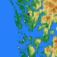 Nearby Forecast Locations - Bergen - Map