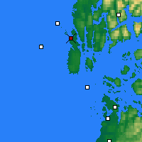 Nearby Forecast Locations - Haugesund - Map