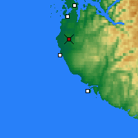 Nearby Forecast Locations - Saerheim - Map