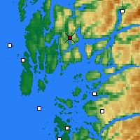 Nearby Forecast Locations - Nedre Vats - Map