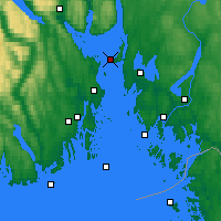 Nearby Forecast Locations - Gullholmen - Map