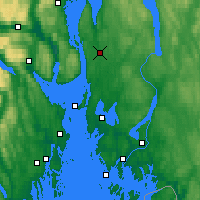 Nearby Forecast Locations - Ås - Map