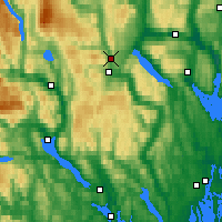 Nearby Forecast Locations - Kongsberg - Map