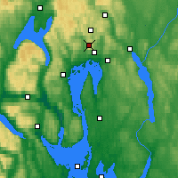 Nearby Forecast Locations - Tryvasshogda - Map