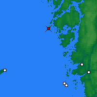 Nearby Forecast Locations - Måseskär - Map