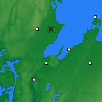 Nearby Forecast Locations - Bergarud - Map