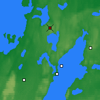 Nearby Forecast Locations - Gardsjo - Map
