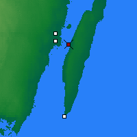 Nearby Forecast Locations - Öland Brdige - Map