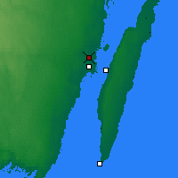 Nearby Forecast Locations - Kalmar - Map