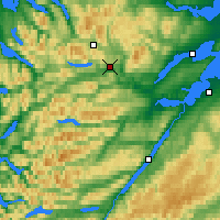 Nearby Forecast Locations - Scottish Highlands - Map