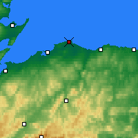 Nearby Forecast Locations - Lossiemouth - Map