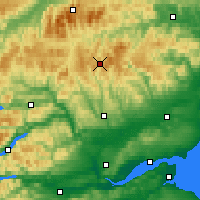 Nearby Forecast Locations - The Cairnwell - Map