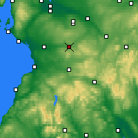 Nearby Forecast Locations - Strathaven - Map