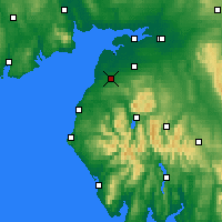 Nearby Forecast Locations - Aspatria - Map