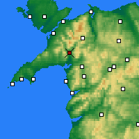 Nearby Forecast Locations - Porthmadog - Map