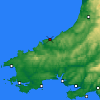 Nearby Forecast Locations - Cardigan - Map