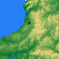 Nearby Forecast Locations - Aberystwyth - Map