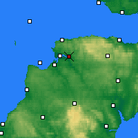 Nearby Forecast Locations - Barnstaple - Map