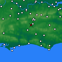 Nearby Forecast Locations - Charlwood - Map