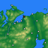 Nearby Forecast Locations - Magilligan - Map