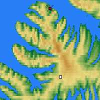 Nearby Forecast Locations - Bolungarvík - Map