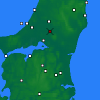 Nearby Forecast Locations - Tylstrup - Map
