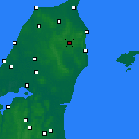 Nearby Forecast Locations - Stenhoj - Map