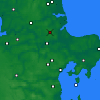 Nearby Forecast Locations - Hald - Map