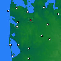 Nearby Forecast Locations - Mejrup - Map