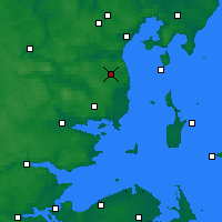 Nearby Forecast Locations - Aarhus Syd - Map