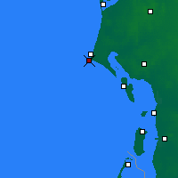 Nearby Forecast Locations - Blavand Cape - Map