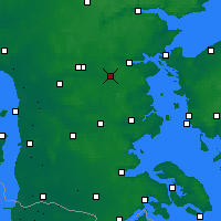Nearby Forecast Locations - Vamdrup - Map