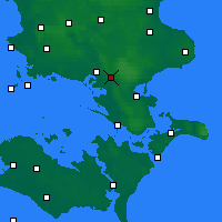 Nearby Forecast Locations - Brandelev - Map