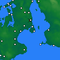 Nearby Forecast Locations - Jægersborg - Map