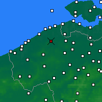 Nearby Forecast Locations - Bruges - Map