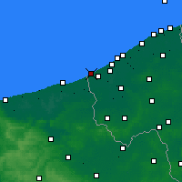 Nearby Forecast Locations - De Panne - Map
