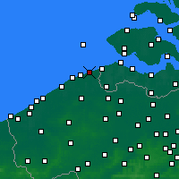 Nearby Forecast Locations - Knokke-Heist - Map
