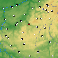 Nearby Forecast Locations - La Roche-en-Ardenne - Map