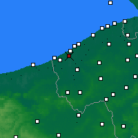 Nearby Forecast Locations - Nieuwpoort - Map