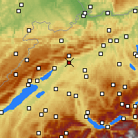 Nearby Forecast Locations - Solothurn - Map