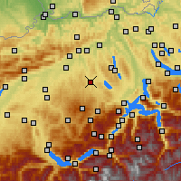 Nearby Forecast Locations - Egolzwil - Map